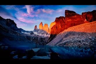Sunrise at Torres del Paine