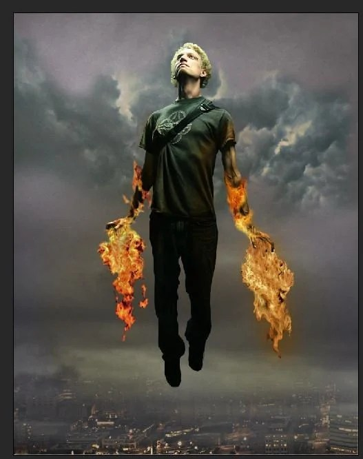 30 How to Create a Flaming Manipulation in Photoshop
