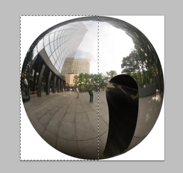 how to draw a reflective sphere