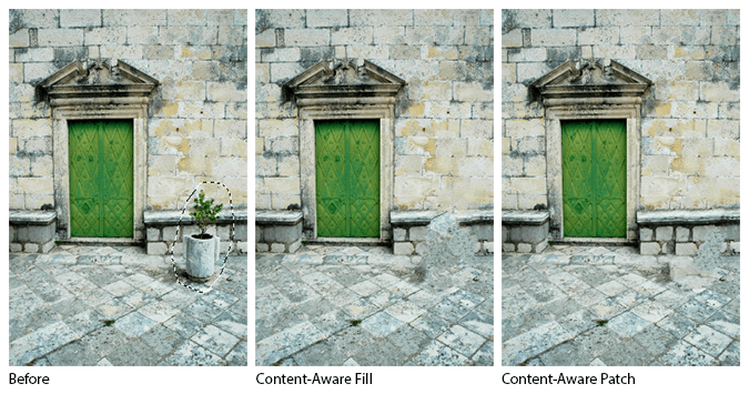 Content-Aware Fill vs Content-Aware Patch