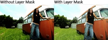 Before and After Multiply Layer with Mask