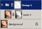 Find Edges applied to the layer mask.