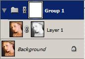 Adicionando uma camada adicional mascare usando um grupo.