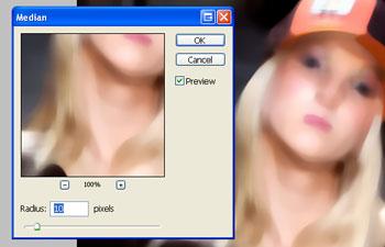 Photoshop Median Filter