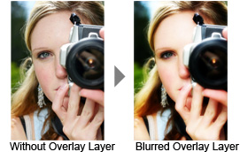 Without blurred Overlay layer vs blurred Overlay layer