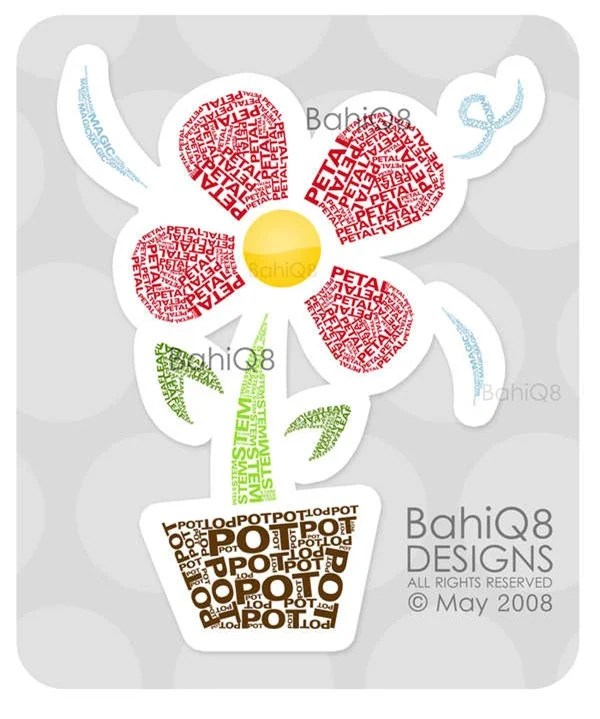 Flower_Typography_by_BahiQ8