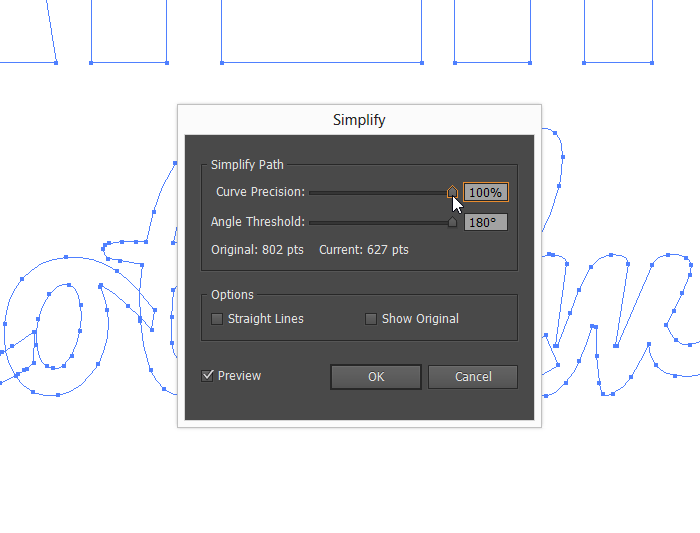 Adobe Illustrator Simpify Text