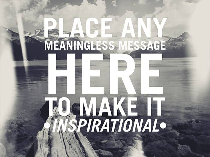 Inspirational Message After