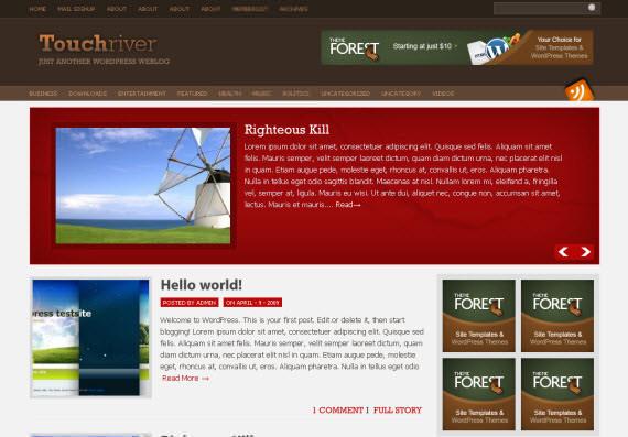 touch-river-free-premium-wordpress-theme