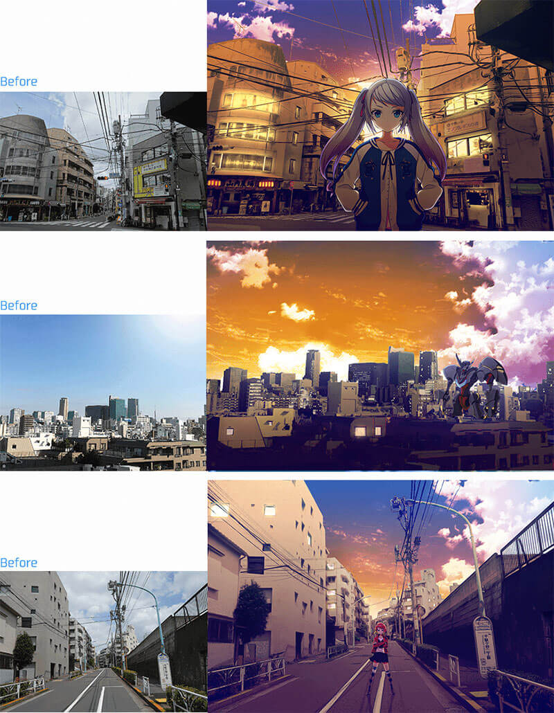 convert-picture-into-illustration-anime-with-sunset-matome