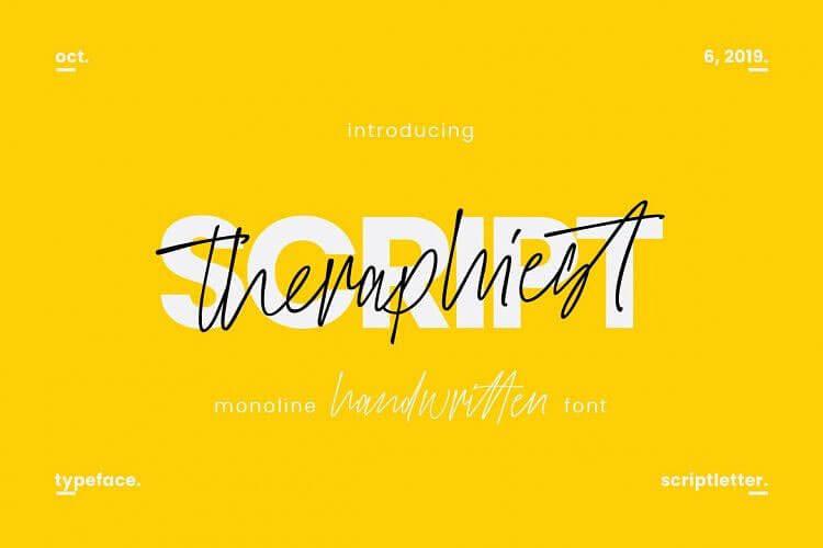 theraphiest-script-font