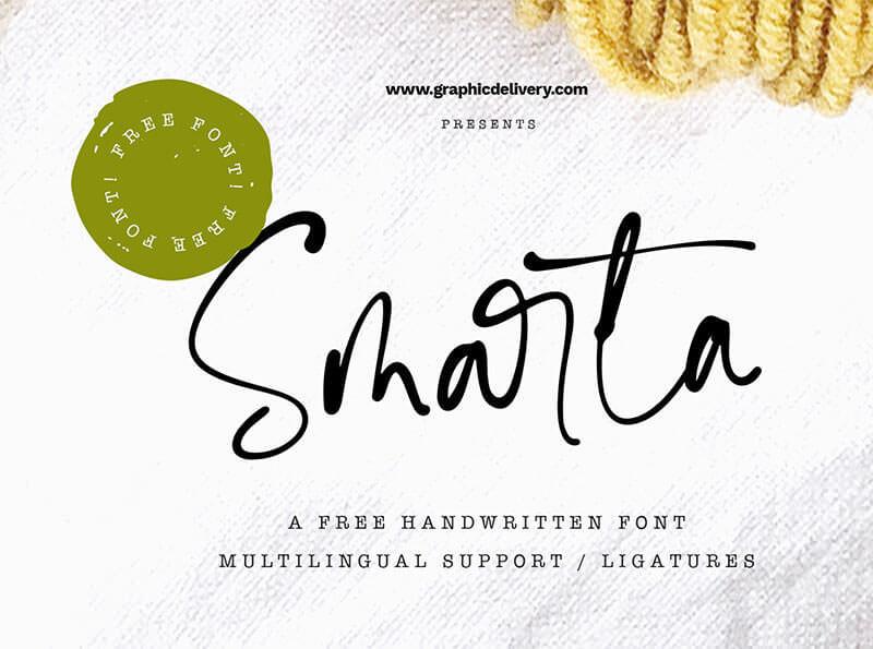 smarta-free-handwritten-font