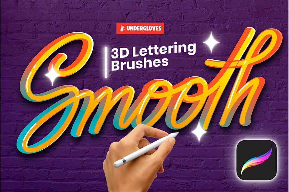 22-3d-lettering-stroke-brushes-for-procreate-1