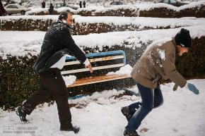 Iran, Kerman Province, Kerman City Winter Snow Snowball 15