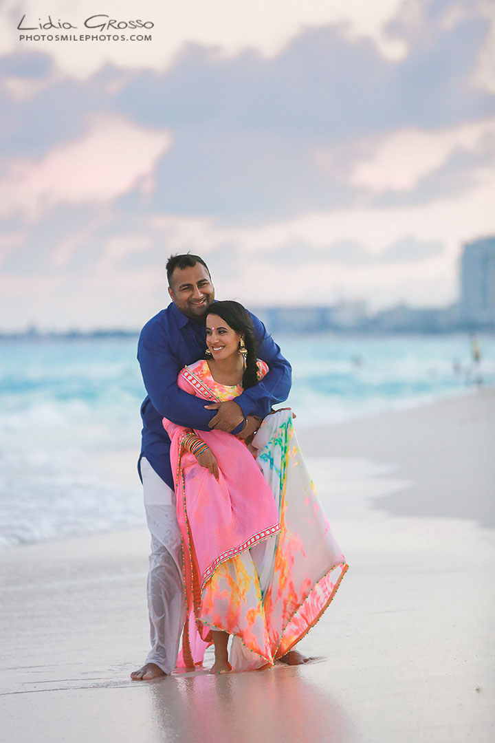 beach palace indian destination weddings cancun, beach portraits cancun, best indian wedding photographer cancun, engagement photos cancun, hindu weddings Cancun, indian couples portraits Cancun, indian weddings cancun, pre sikh wedding photos Cancun, traditional indian outfit photos cancun;