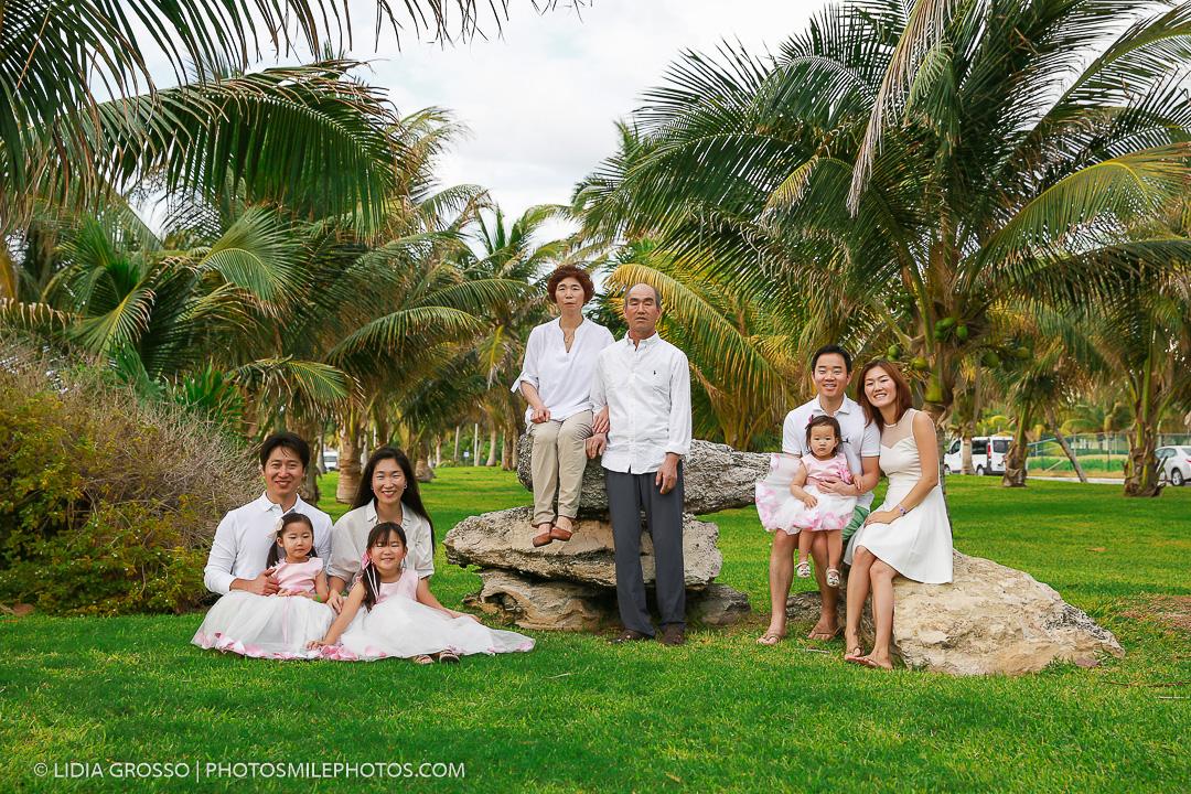 Korean Family Portrait Reunion Cancun Beach Portraits Photographer Destination Wedding