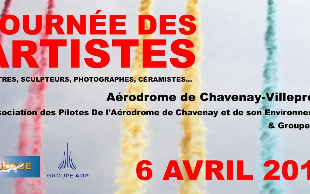 Journée des Artistes 6 avril 2019 sur l'aérodrome de Chavenay