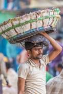 Porteur Mechua Market Calcutta Inde