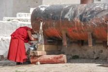 Citerne d'eau au Monastère de Gyantse près de Lhassa - Tibet
