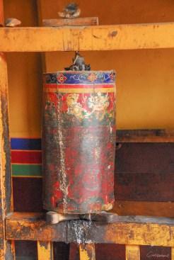 Moulin à prières monastère de Gyantse près de Lhassa - Tibet