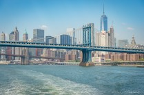 Manhattan Bridge et Brooklyn bridge New York