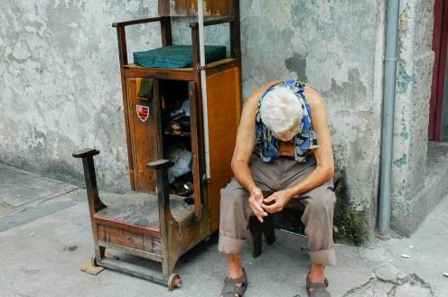 Cireur de chaussure de rue - Potosi - Bolivie
