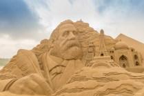 Fulong Beach concours de sculpture dans le sable - Taiwan.