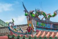 Toit et dragon -Temple Lukan - Taiwan.