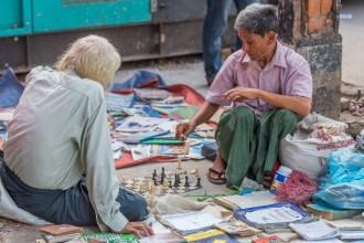 Partie d'échecs.