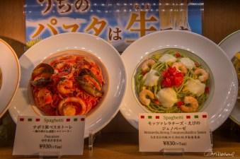 Modèle de repas en plastique - Shibuya Tokyo - Japon.