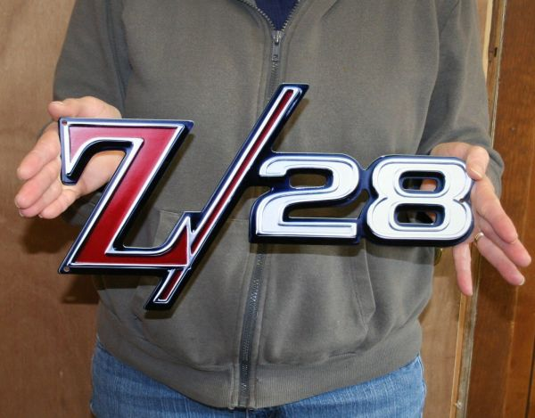 1969 Camaro 28 Fender Emblem Cam14 15 X8 -metal Sign