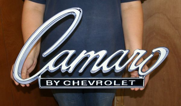Chevrolet Camaro Metal Sign 1968-69 Header Deck 24 X13