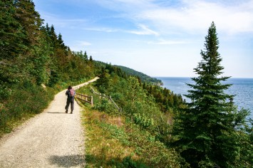 Wandern im Naturparadies Kap Gaspe im osten von Quebec, Kanada. August 2015 // Hiking in the wonderful nature of Cape Gaspe in the east of Quebec, Canada. August 2015