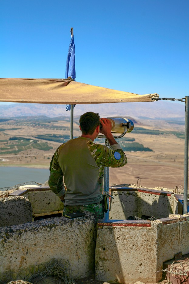 Soldaten der UN Friedensmission auf der Beobachtungsstation in den Golan Höhen an der Grenze zu Syrien in Israel, Juli 2017 // Soldiers of the UN Peacekeeping mission at the observation station on the border to Syria in Israel, July 2017