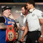 PHOTOS: Joshua meets Ruiz, sees belts before rematch