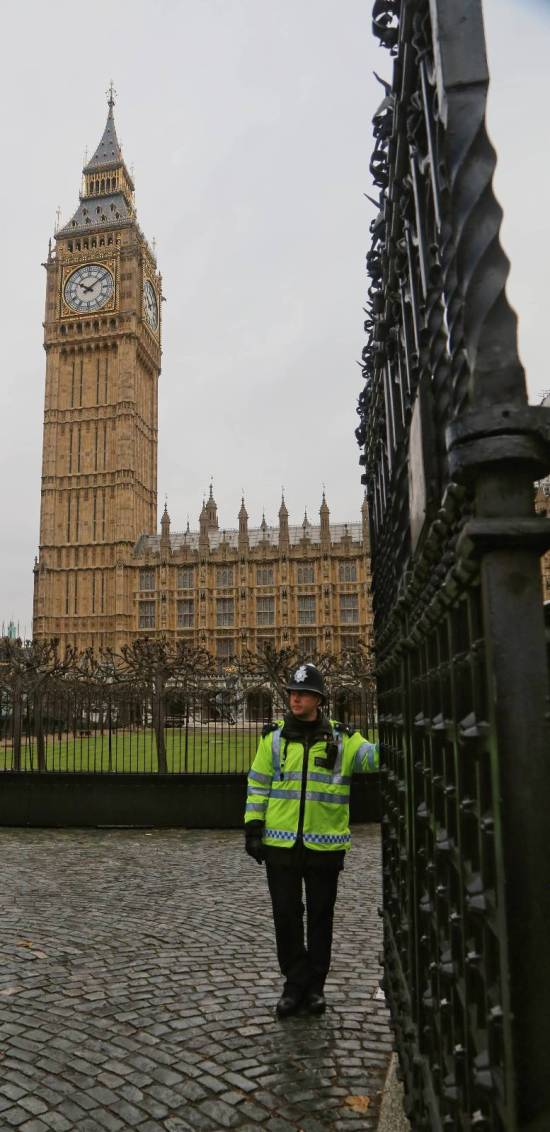Vertical Editorial Shot: Gates of Parliament