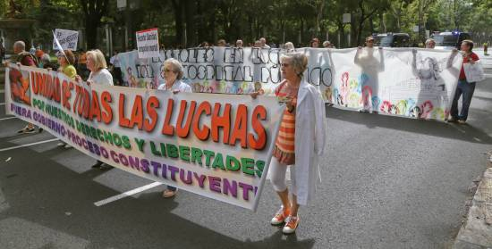 Protest Against Privatization of Hospitals in Madrid