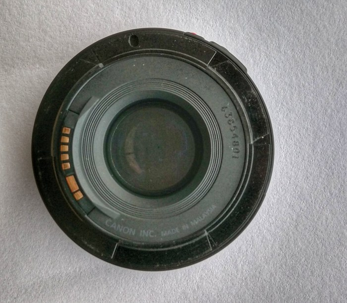 Is my Canon EF 50mm F1.8 II Lens a fake?