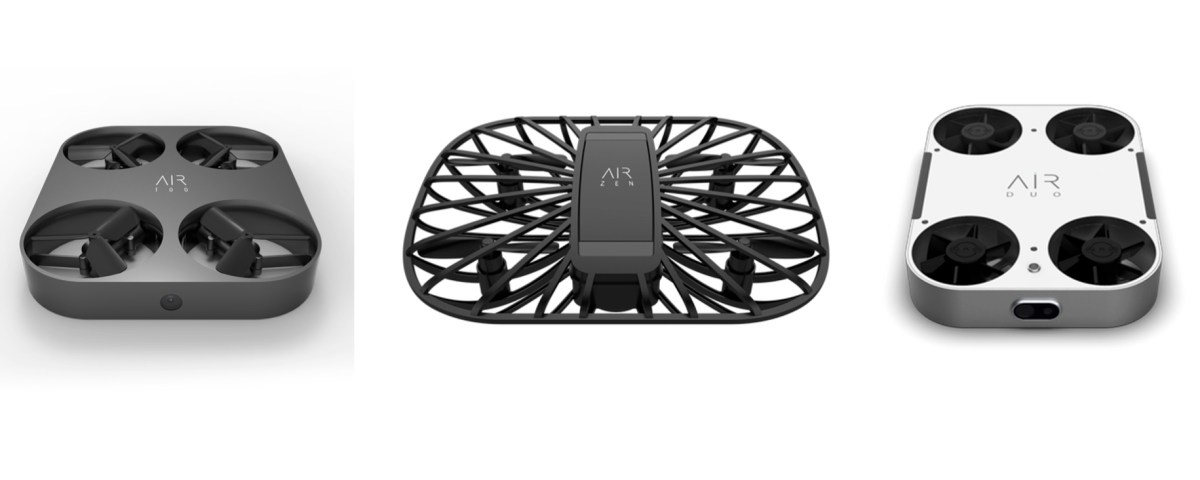 AirSelfie's fleet of flying cameras, including the AIR 100, AIR Zen and AIR Duo (pictured), is taking aerial photography to new heights.