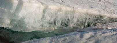 Ice Teeth on Ghost Lake