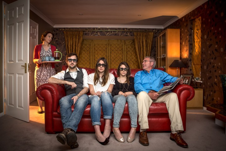 Family flash portrait by Kevin Ahronson