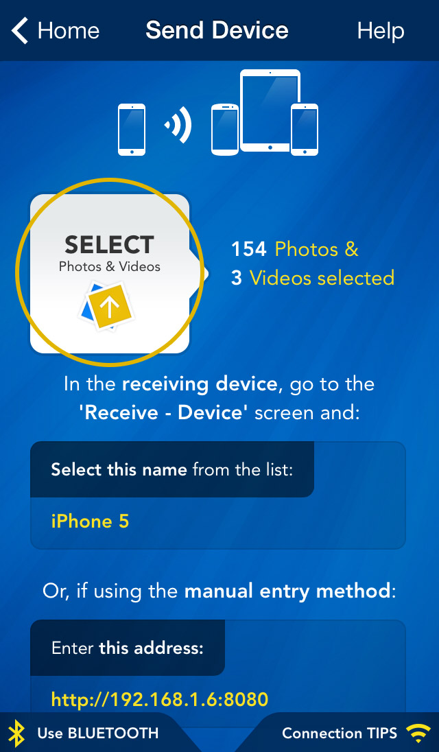 how to delete photos from another device