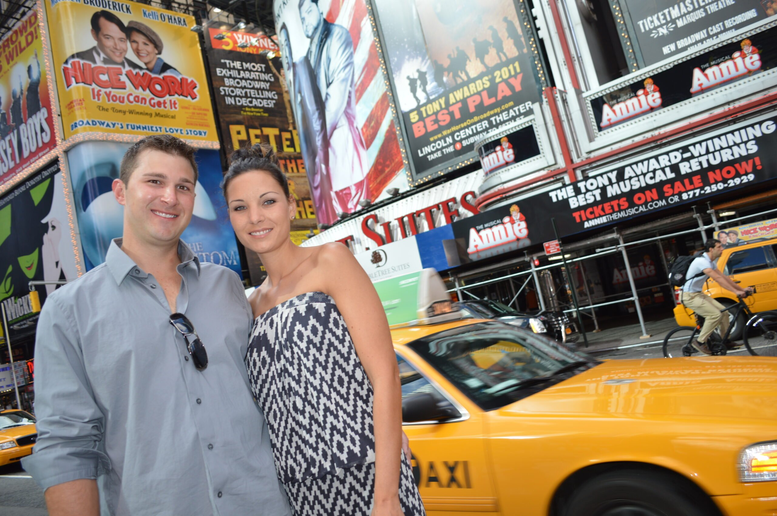 Broadway NYC cabs during photo tour