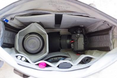 Le Tote avec un reflex Nikon D800 et deux objectifs