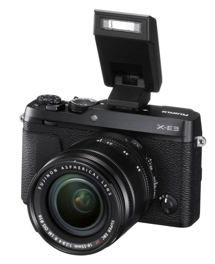 Phototrend X E3 Black FrontObl+XF18 55mmF2.8 4+EF X8