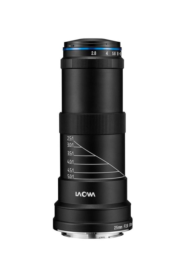 Laowa 25mm f/2.8 ultra macro 2.5-5x déplié