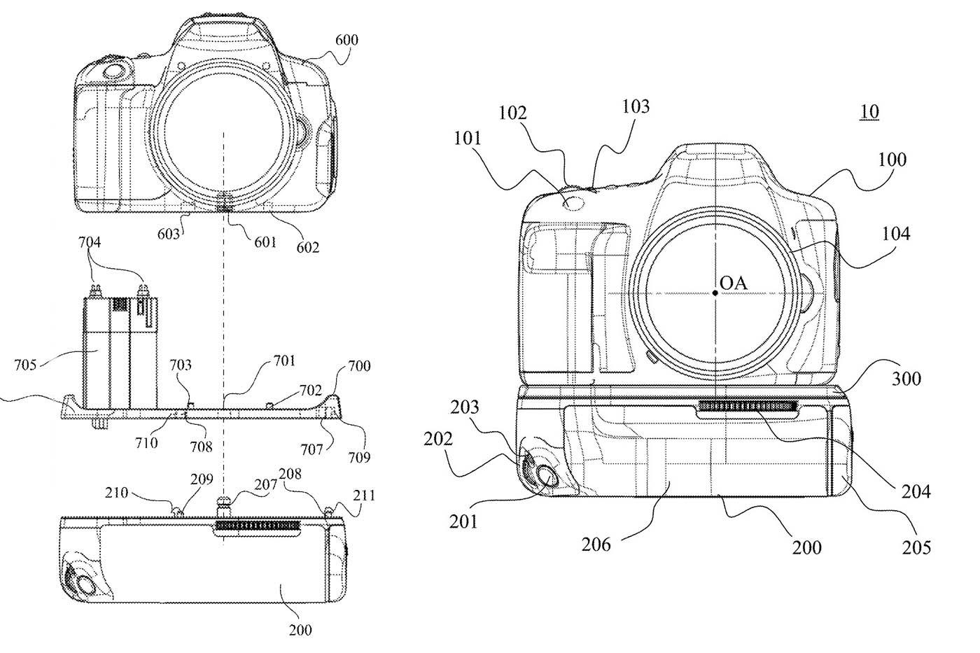 Canon dépose un brevet pour un (hypothétique) grip