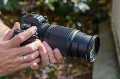 Objectif NIKKOR Z DX 50-250mm f/4,5-6,3 VR en position 50 mm
