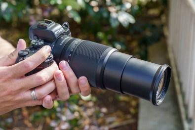 Objectif NIKKOR Z DX 50-250mm f/4,5-6,3 VR en position 250 mm