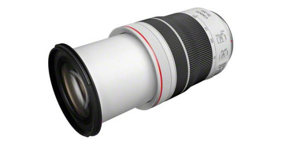 RF70 200mm F4 L IS USM FrontSlant Extended